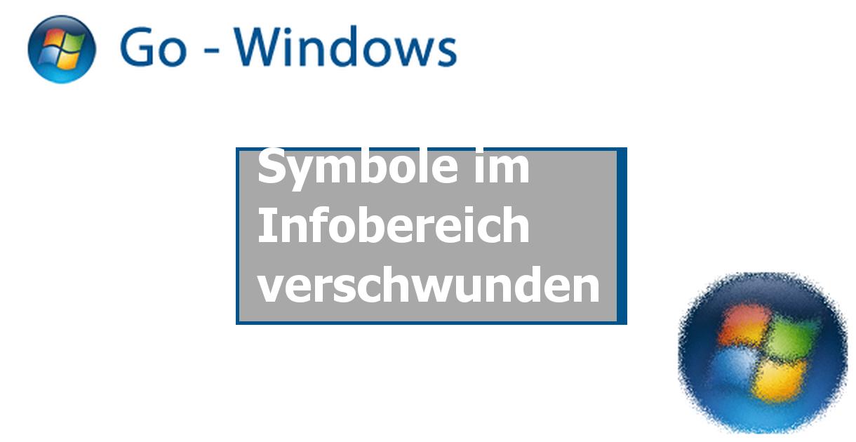 Symbole im Infobereich verschwunden ✓ Windows Vista Forum