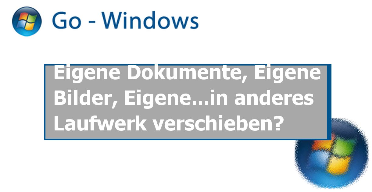 Win7 Benutzer Verschieben