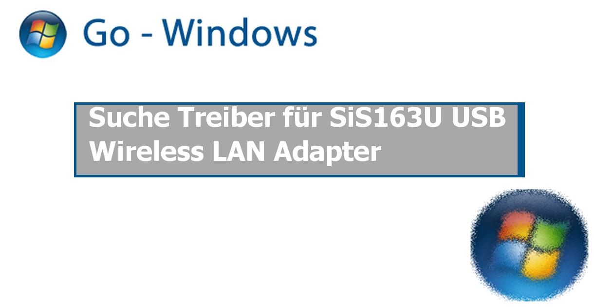 Sis163u windows 7 download.