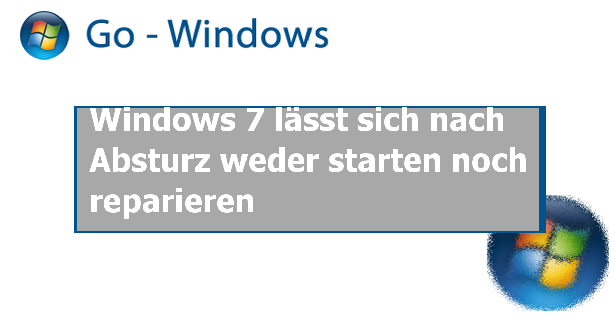 Windows 7 Online Reparieren