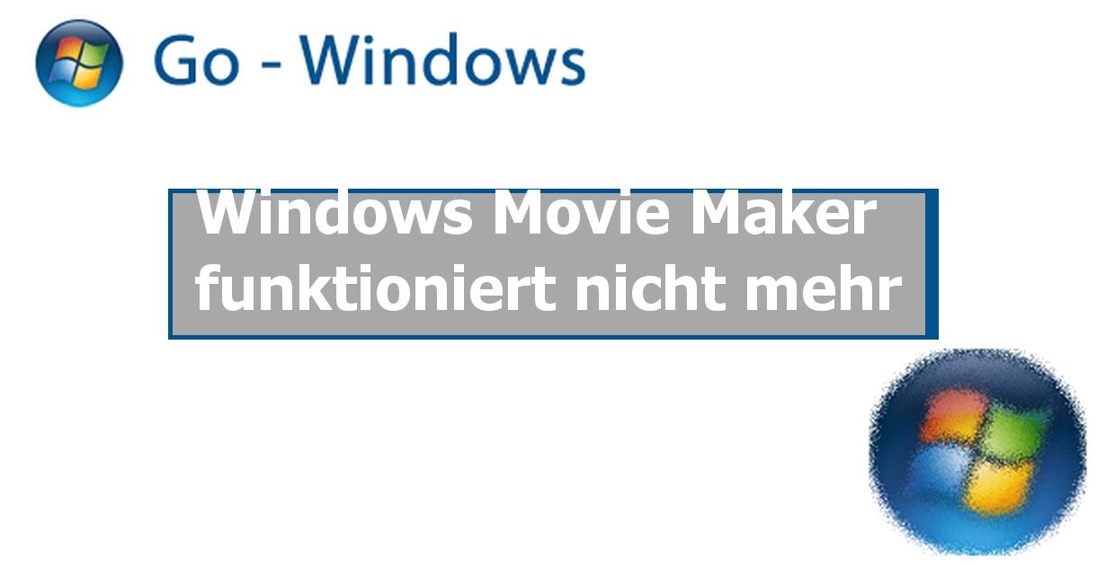 windows movie maker funktioniert nicht mehr windows vista forum. Black Bedroom Furniture Sets. Home Design Ideas
