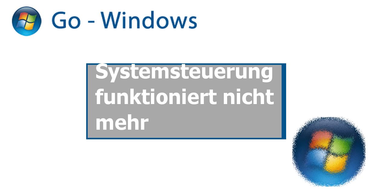 systemsteuerung funktioniert nicht mehr windows vista forum. Black Bedroom Furniture Sets. Home Design Ideas