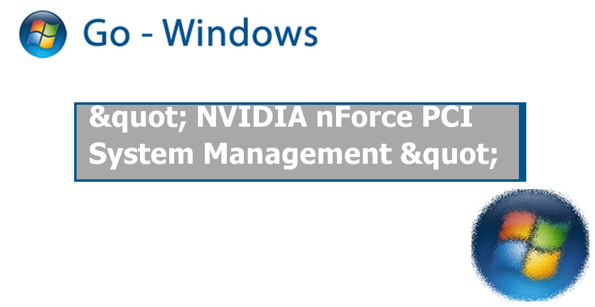 NVIDIA nForce System Management on Drivers Informer