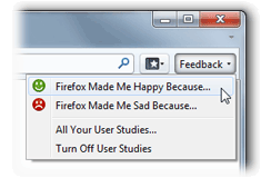 Firefox Feedback Button