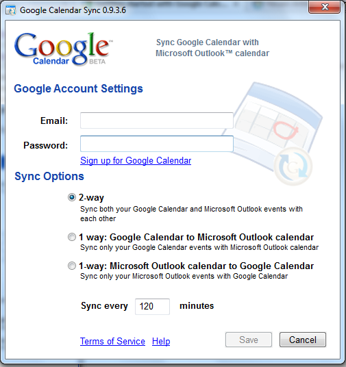 Google Calendar Sync für Outlook 2010